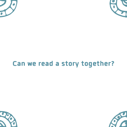 Can we read a story together?