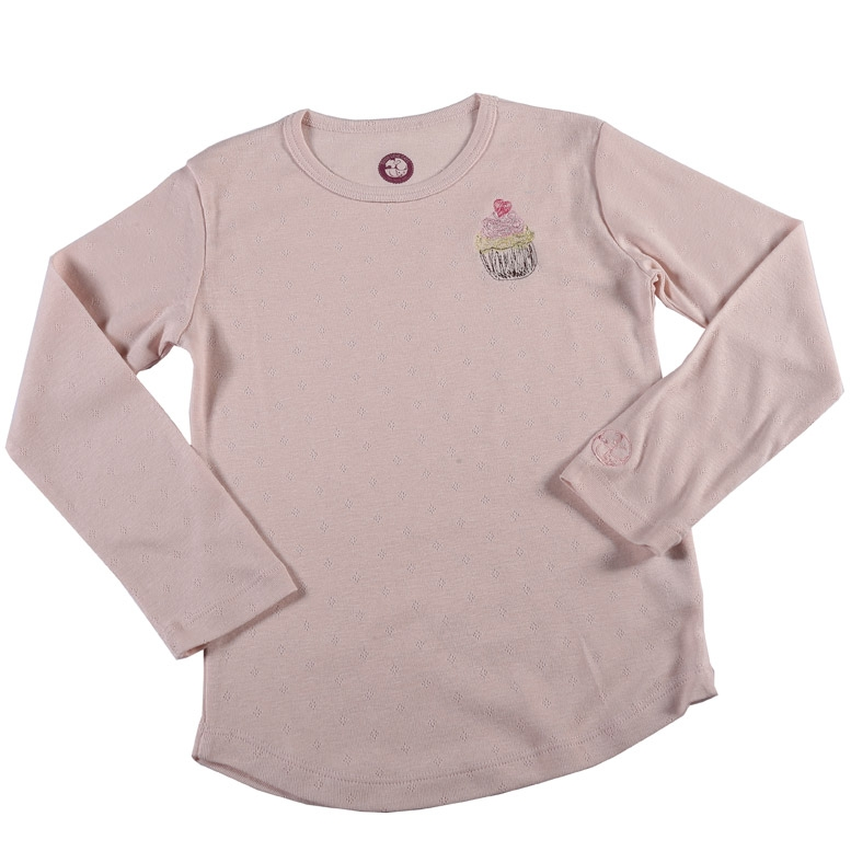 Schlafanzug-T-Shirt Muffin in rosa
