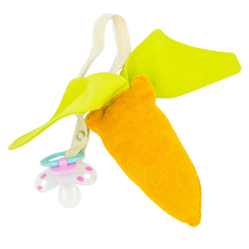 Pacifier chain Carrot Terry Toy organic cotton